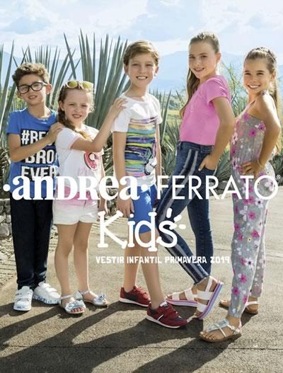nueva llegada 50356 4b6b6 Catálogo Andrea Ferrato Kids Primavera 2019 Vestir Infantil