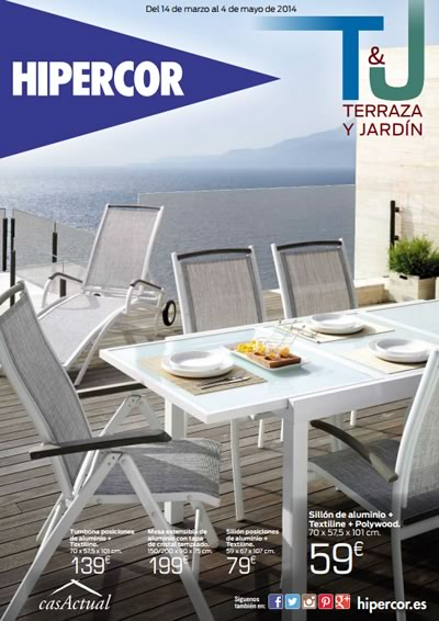Cat logo de terraza y jard n 2014 en hipercor for Oferta terraza y jardin