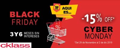 Catálogo Cklass de Black Friday y Cyber Monday 2019