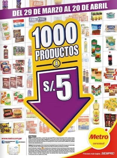 1000 productos a 5 soles supermercado metro peru