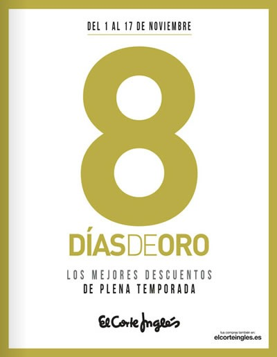 8 dias de oro el corte ingles noviembre 2013 espana