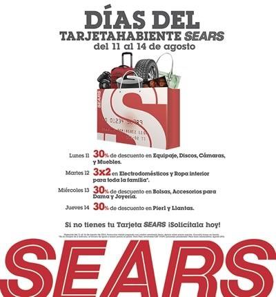 Sears dias del tarjetahabiente sears agosto 2014