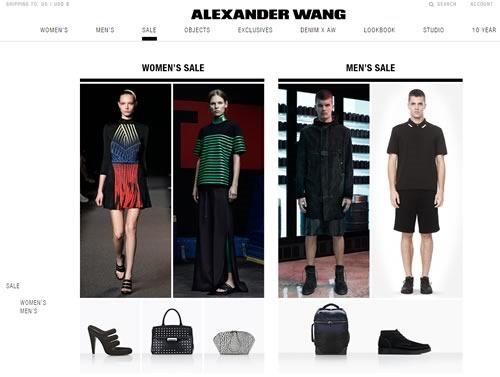 alexander wang ofertas 60 por ciento descuento moda mujer hombre