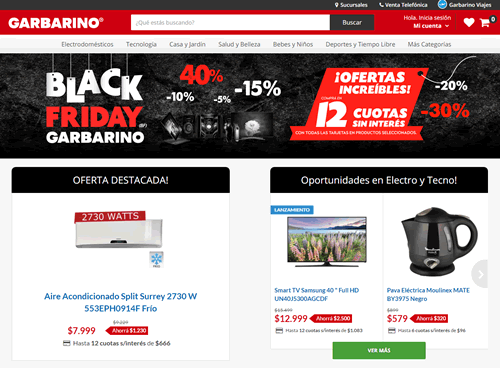black friday garbarino enero 2016