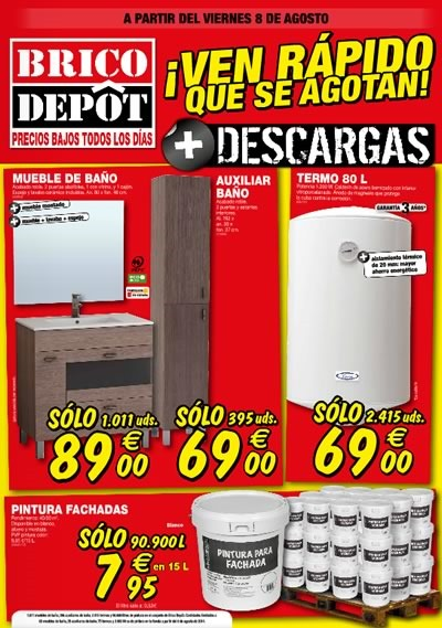 brico depot ofertas agosto 2014