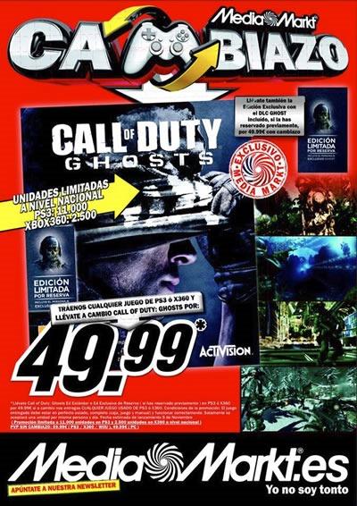 cambiazo de call of duty vale con cualquier juego