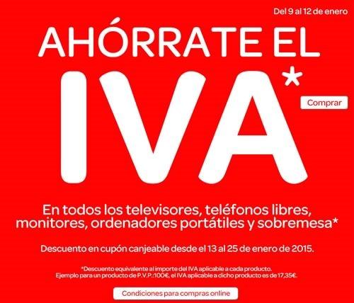 carrefour ahorrate el iva 9 a 12 enero 2015 espana