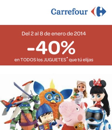 carrefour ofertas juguetes enero 2014