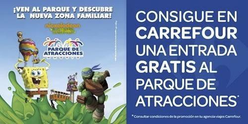 carrefour regala entradas al parque de atracciones junio 2014