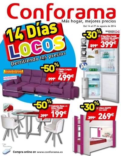 catalogo 14 dias locos conforama agosto 2014