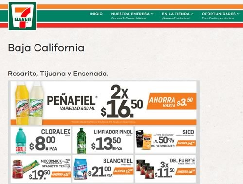 catalogo 7 eleven baja california