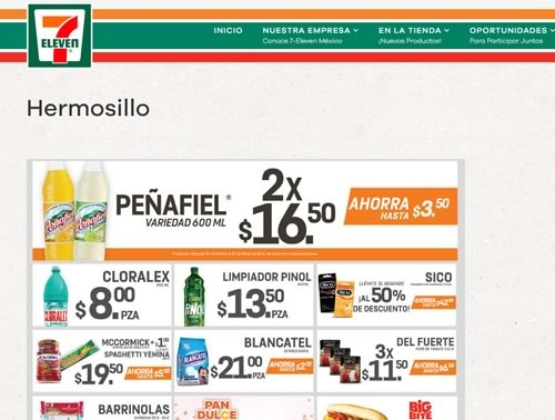 catalogo 7 eleven hermosillo