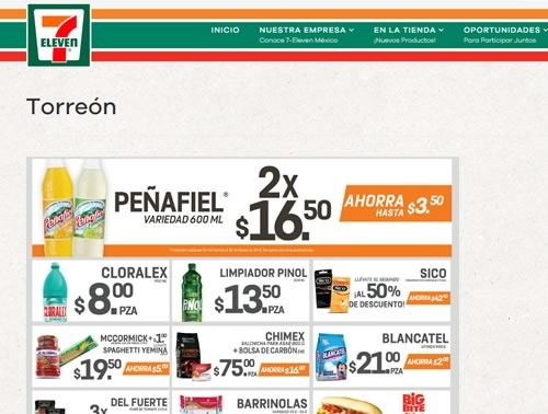 catalogo 7 eleven torreon