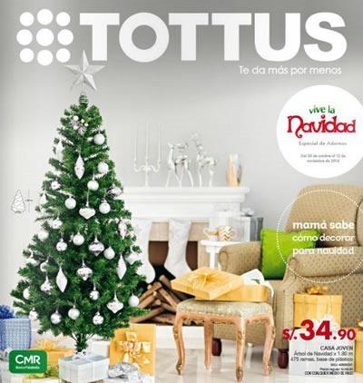 catalogo adornos navidad tottus noviembre 2014