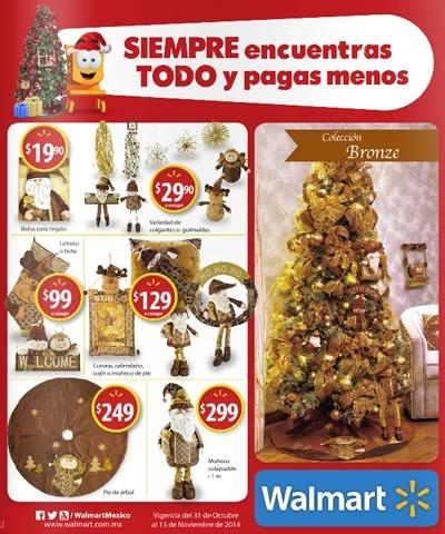 catalogo adornos navidad walmart 2014 noviembre mexico