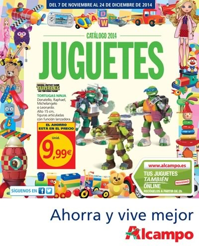 catalogo alcampo juguetes diciembre 2014 espana