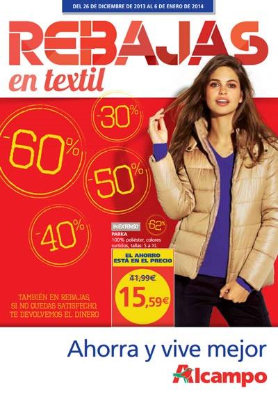 catalogo alcampo rebajas ropa enero 2014