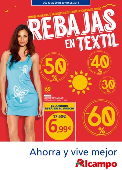 catalogo alcampo rebajas textil junio 2014
