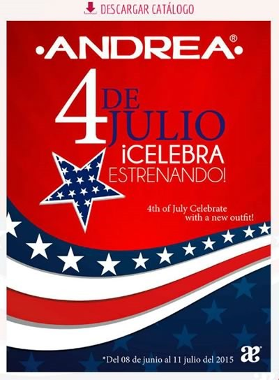 catalogo andrea 4 de julio de 2015 en usa