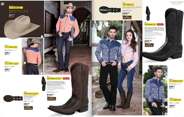 catalogo andrea botas vaqueras mexicanas verano 2015 usa - 01