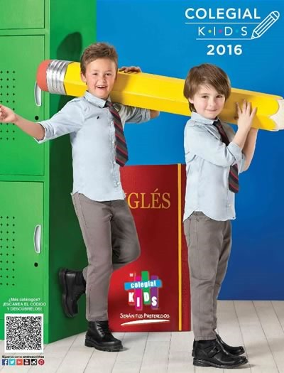catalogo andrea colegial kids 2016 nino back to school