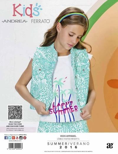 Cat Logo Andrea Infantil Vestir Ni A Colecci N Verano 2016