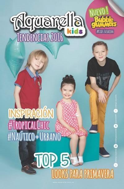 Aquarella Kids: Catálogo de Tendencias en Ropa 2016 - Colombia