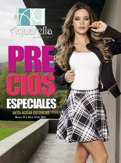 Aquarella: Catálogo de Ofertas Calzado Marzo-Abril 2016 - Colombia