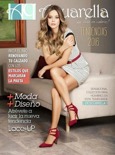 Aquarella: Catálogo de Calzado y Ropa con Tendencias de Moda 2016 - Colombia