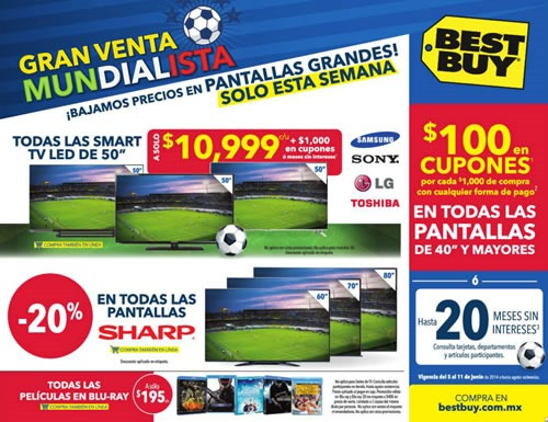 catalogo best buy gran venta mundialista junio 2014