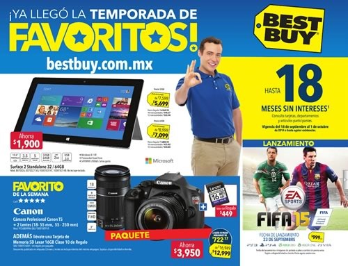 catalogo best buy mexico ofertas temporada de favoritos al 1 de octubre 2014