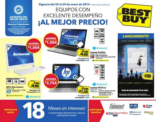 catalogo best buy ofertas tecnologia enero 2014