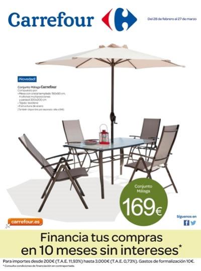 Catálogo Carrefour 2014: Ofertas en Muebles de Jardín - Marzo