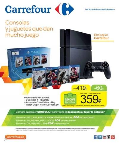 catalogo carrefour consolas videojuegos navidad 2014
