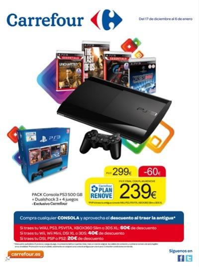 catalogo carrefour juguetes consolas videojuegos navidad 2013