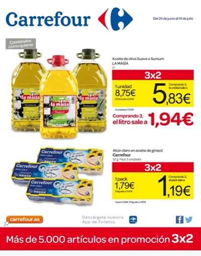 catalogo carrefour ofertas 3x2 junio julio 2014
