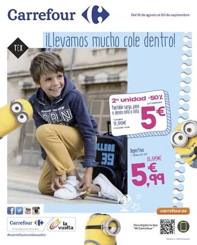 catalogo carrefour vuelta al cole 2015 madrid espana