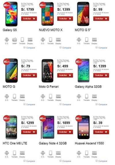 catalogo claro smartphones y ofertas actuales