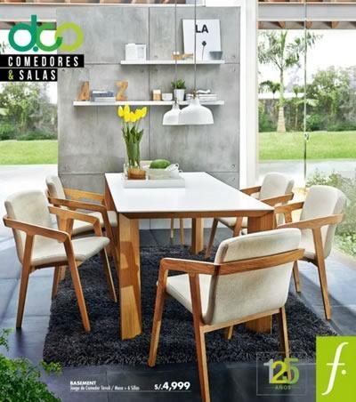 Cat logo de comedores y salas en saga falabella octubre for Falabella muebles de comedor
