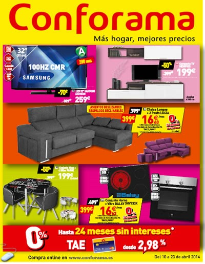 Conforama cat logo de muebles abril 2014 - Catalogo conforama madrid ...