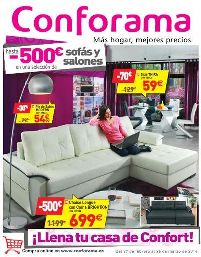 catalogo conforama ofertas en sofas y salones marzo 2014