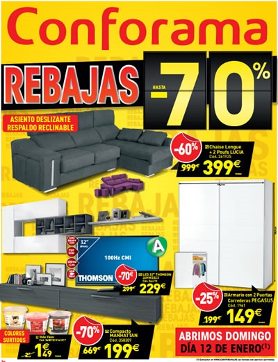 catalogo conforama ofertas enero 2014