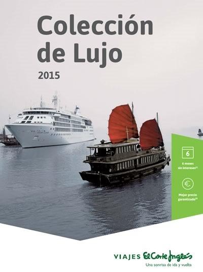 catalogo de ofertas en cruceros de lujo 2015 en el corte ingles