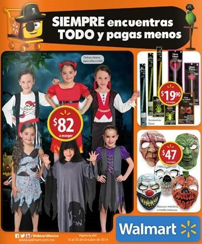 catalogo disfraces halloween walmart mexico octubre 2014