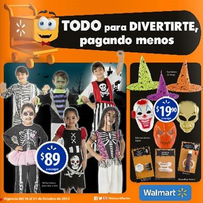 catalogo disfraz halloween walmart octubre 2013 mexico