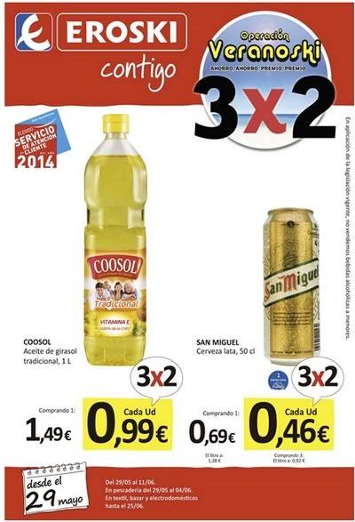 catalogo eroski junio 2014 veranoski 3 por 2 espana
