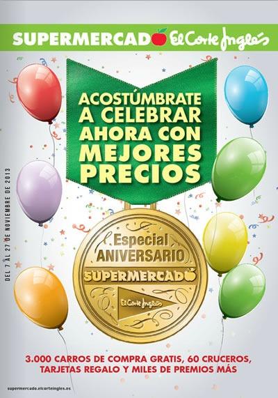 catalogo especial aniversario el corte ingles supermercado noviembre 2013