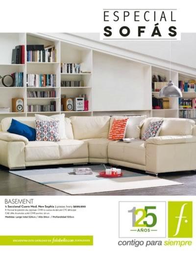 catalogo falabella chile especial sofas septiembre 2014