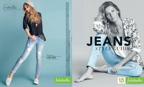 catalogo falabella colombia jeans style guide octubre 2014