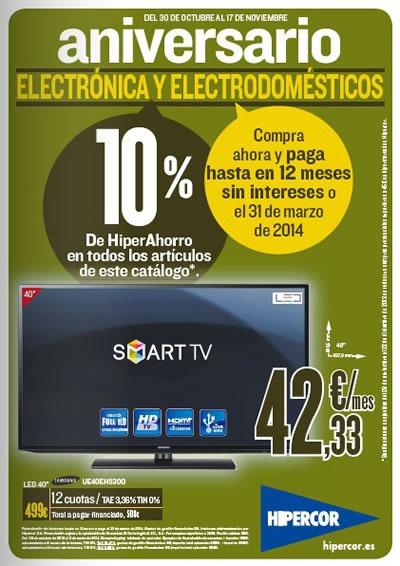 catalogo hipercor electronica electrodomesticos noviembre 2013 espana